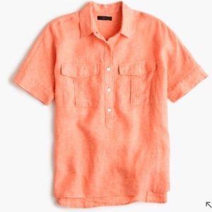 J.Crew Irish Linen Popover Shirt